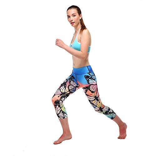 Yoga Américain Et Bronze Taille De Stretching pink Pantalons Collants Haute Mode xl Ads Force Européen Femmes Hanche Numérique Impression 5EwqgU7Bpx