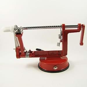 3 in 1 Apple Slinky Machine Peeler Corer Fruit Cutter Slicer Kitchen Tool Red