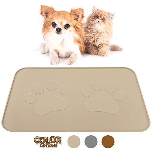 Extra Large Pet Feeding Bowl Mat with Logo - FDA...
