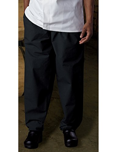 Classic Baggy Chef Pant with Zipper, 65/35 Poly/Cotton Green Tab by Uncommon Threads by Uncommon Threads