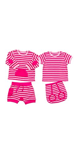 Le Petit Society Babies' 4 Pc Lounge Wear In Pink 9M (Pc Lounge)