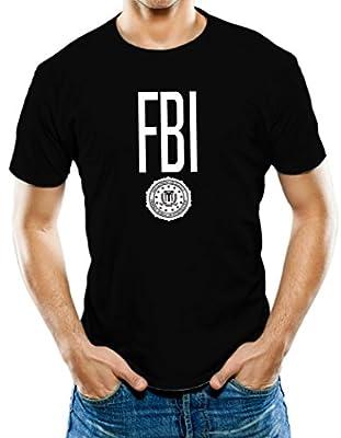 Universal Apparel Men's FBI Badge Design T-Shirt