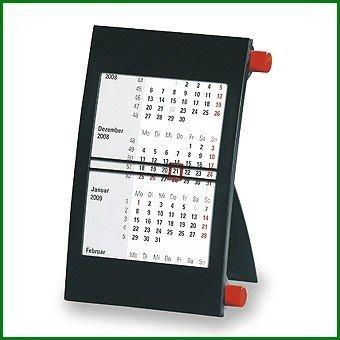 Walz 3-Monats-Tischkalender für 2 Jahre, mit Drehmechanik, schwarz