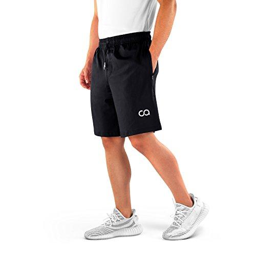 Contour Pocket - Contour Athletics Gym Shorts for Men (Roman), Men's Workout Running Shorts with Zipper Pockets (CA3001-MB)