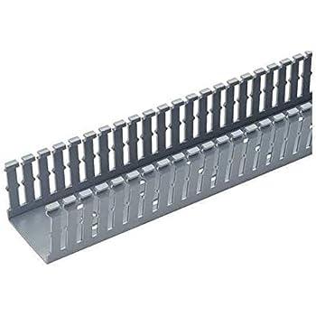 PANDUIT F3X4WH6 Wire Duct,Narrow Slot,White,3.25 W x 4 D