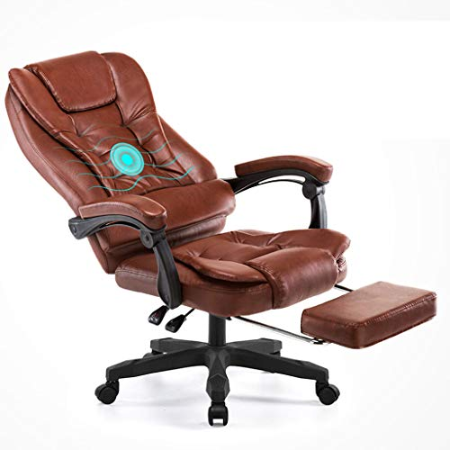 Price comparison product image Adjustable Chairs Armchair with Footrest Office Armchair Study Computer Chair Home Recliner Lift Swivel Chair Leather Art Seat Esports Game Chair Load-Bearing 170KG Gift for Family