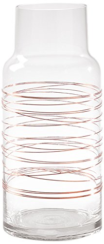 Contemporary Copper Vase - Torre & Tagus 902590A Cylinder Spun Wire Glass Vase, Short, Copper