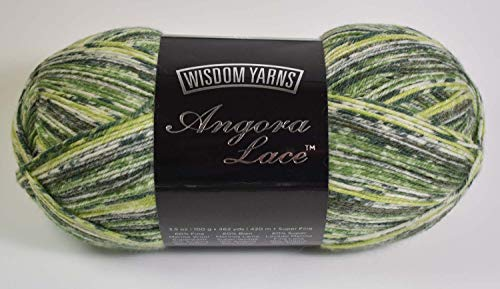 (Wisdom Yarns Angora Lace Color #103 Back to Nature)
