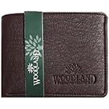 Woodland Genuine Leather Men's Wallet (Dark Maroon)