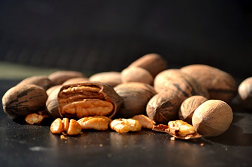 New Crop 2016 Texas Native In Shell Pecans - Great Flavor, Organic, 4 Lb. ()