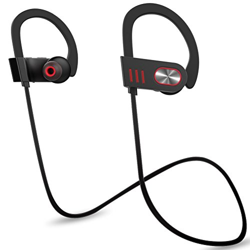 Wewdigi Bluetooth Headphones, Wireless in Ear Earbuds V4.1 Sports Sweatproof Earphones, Premium Sound with Bass Noise Reducing, Secure Fit Bluetooth Headset for Running, Workout and Gym