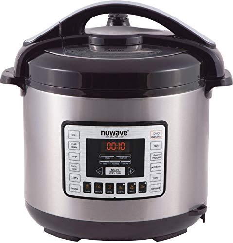 NuWave Nutri-Pot 8 Quart Digital Pressure Cooker,gray/black,8 qt. For Sale
