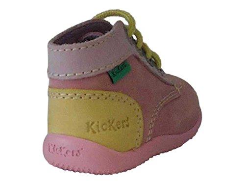 Kickers BONBON, Chaussures Bébé marche FILLE ROSE 25