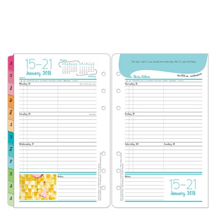 Compact Her Point of View Weekly Ring-bound Planner - Jan 2018 - Dec 2018