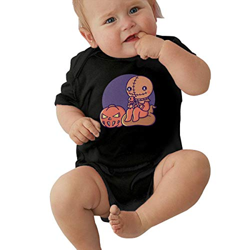 Trick 'r Treat Funny Summer Infant Baby Boy Girl Short Sleeve Bodysuit Jumpsuit Outfits Shirt Black