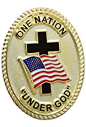 One Nation Under God American Flag Lapel Pin