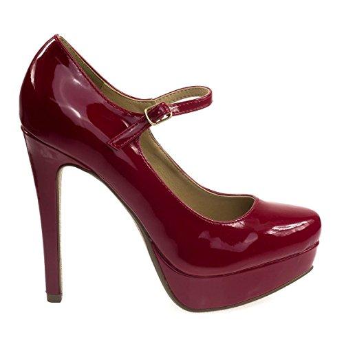 Mary-jane Dress Pump W Suola Leggera Imbottita, Tacco A Spillo Alto E Platform Rossetto Rosso