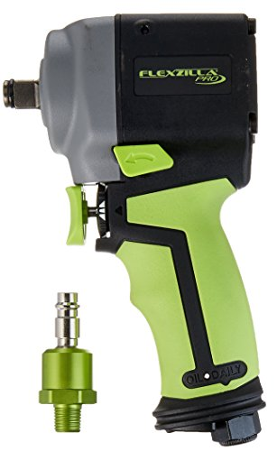 Flexzilla Pro Mini Impact Wrench, 1/2'' Drive, with High Flow Ball Swivel Plug - AT1475FZ by Flexzilla
