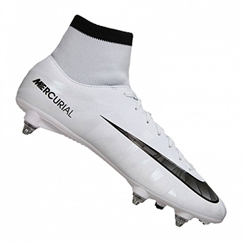 Nike Mercurial Victory VI CR7 DF SG – Blue Tint/Black de White de Blue Tin, tamaño #: 6.5