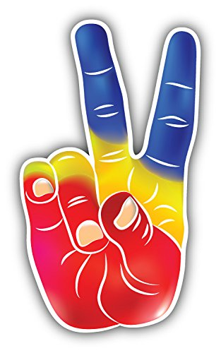 Victory hand symbol art decor bumper sticker 3