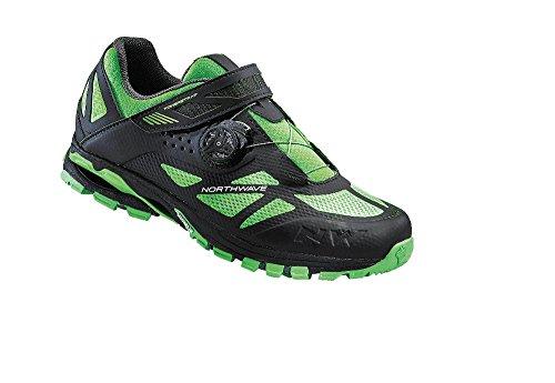 NORTHWAVE SPIDER PLUS 2 Mountainbike Schuhe black-green fluo