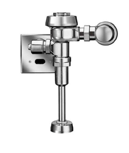(Sloan ROYAL 186-0.5 ES-S Royal Optima Exposed, Hardwired, Automatic Urinal Flush Valve - 0.5 GPF High Efficiency)