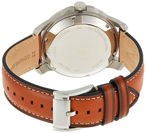 Fossil Mens ME1161 Grant Twist Three-Hand Luggage Leather Watch