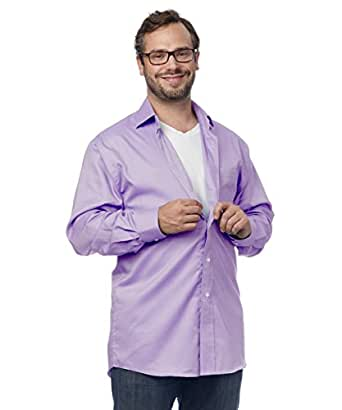 Silverts Disabled Elderly Needs Magnetic Buttons Dress Shirt for Men - No More Buttons Shirt - Great for Arthritis & Parkinsons - Mens Magnetic Closing Shirts With Magnet Buttons - Mulberry Med