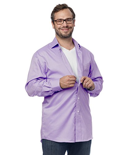 Magnetic Buttons Adaptive Dress Shirt for Men - Great for - Mulberry XL