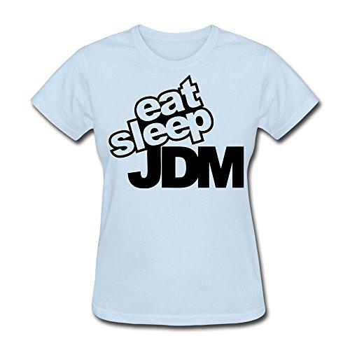 - TAUYOP Women's Eat Sleep Jdm T-shirts SkyBlue XL