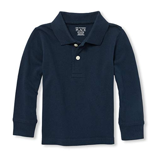 The Children's Place Baby Boys' Toddler Long Sleeve Uniform Polo, Nautico, 4T ()