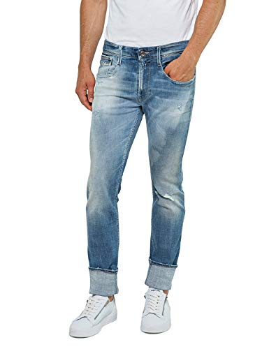 Replay Men's Slim Fit Anbass Jeans Aged 10 Years Light Blue in Size 32W 32L