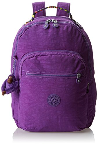 Kipling Seoul Large Backpack With Laptop Protection, Tile Purple, One Size