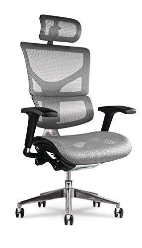 X Chair X2 Executive Task Chair, White K-Sport Mesh with Headrest