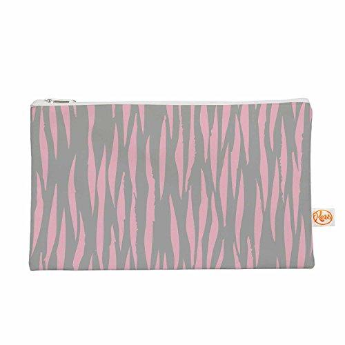 """KESS InHouse Wildlife """"Pink Animal Print 12"""" Gray Paintin..."""