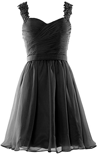 MACloth Women Lace Straps Chiffon Short Prom Homecoming Dress Formal party Gown Negro
