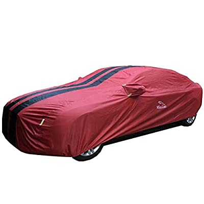 XXchin Car Cover Audi Waterproof Car Cover UV Protection All Weather Snow Dust Rain Wind Resistant Outdoor Car Clothes Fit Audi
