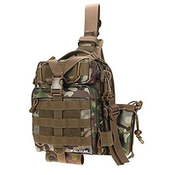 e5a8d653d5dc2 RUNATURE Sling Mochila Molle Tactical Militar de Hombre Mochilas Táctica Combate  Militares Ligera Impermeable Bolsa Tactico Deportiva de Hombro Pecho ...