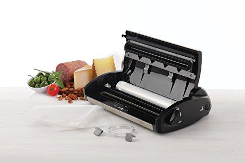 FoodSaver V2860 Macchina per Sottovuoto Alimenti, 10 Sacchetti Pretagliati, 1 Rotolo Lungo 3 m, Porta Rotolo con… 3