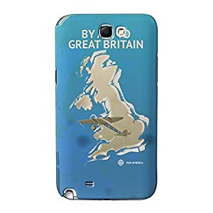 Great Britain Full Wrap High Quality 3D Printed Case for Samsung Galaxy Note 2 by Nick Greenaway + FREE Crystal Clear Screen Protector
