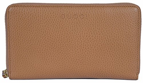 Gucci Women's XL Textured Leather Zip Around Travel Clutch Wallet (Whisky (Gucci Leather Clutch)