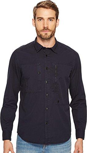 G-Star Men's Powel Shirt Long Sleeve Dark Naval Blue Small