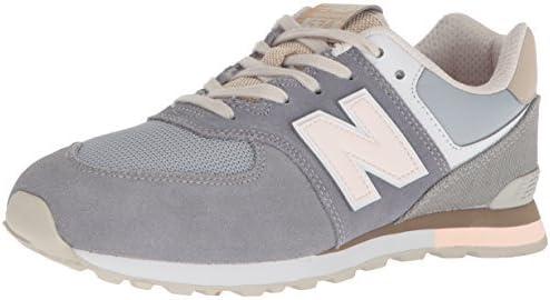 New Balance Kids' 574 V1 Lace-Up Sneaker, Gunmetal/Steel, 5.5 W US Big Kid (8-12 Years)