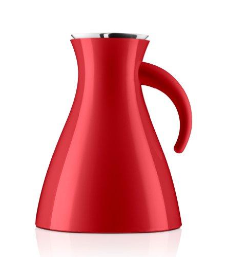 Eva Solo Wide Base Vacuum Jug, 1-Liter, Red Low