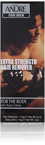 Andre Extra Strength Hair Remover for The Body with Body Hair Remover, 6 Ounce