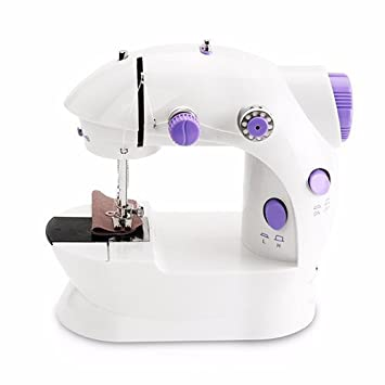 RSGK Mini Máquina De Coser Eléctrica Coser Doble Velocidad Inicio Máquina De Coser De Doble Máquina para Hacer Punto Mini Máquina De Coser Portátil: ...