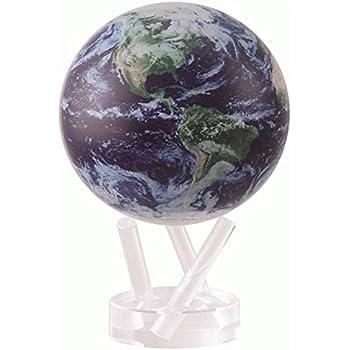 Amazon 45 silver and black metallic mova globe toys games 45 satellite view with cloud cover mova globe gumiabroncs Images