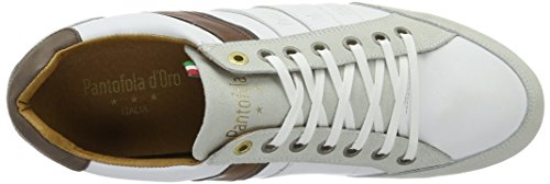 Low White Blanc Marron Baskets Allassio EU 44 Pantofola Bright d'Oro Uomo Homme twx66O