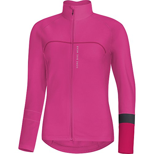 (Gore Bike WEAR Women's Thermo Long Sleeve Jersey, Gore Selected Fabrics, POWERLADY Thermo Jersey, Size: 42, Rose/Pink, SLAPOW)