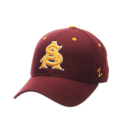 Zephyr NCAA Arizona State Sun Devils Men's DH Fitted Cap, Maroon, Size 8